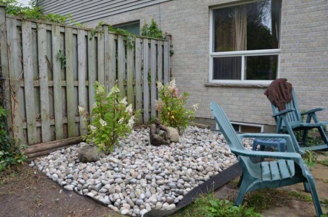 stone garden in london ontario backyard