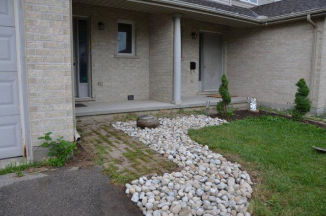 new stone garden landscaping