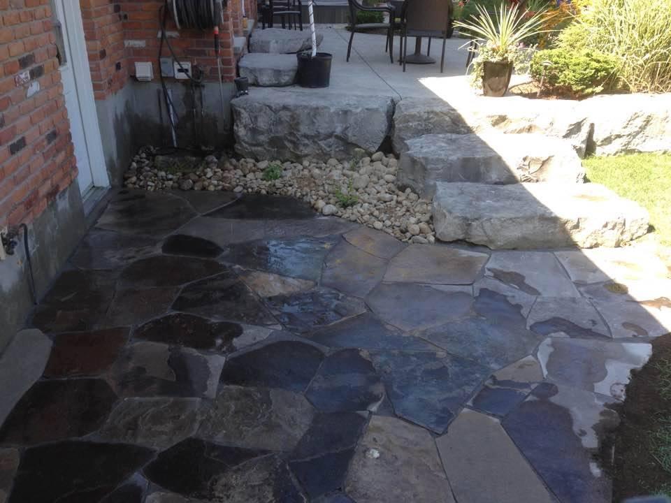 new stone patio
