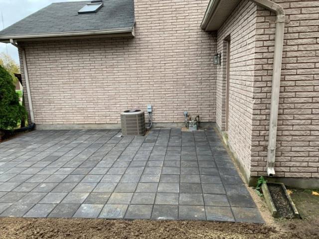 landscaping backyard patio